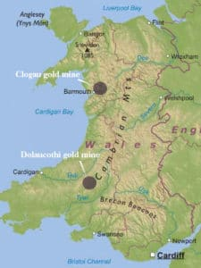 Gold Mine locations in wales