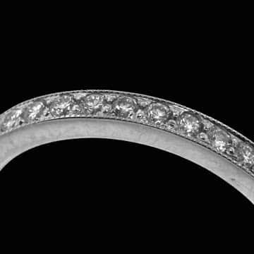 Bead Set Full Eternity Style Wedding Band 3