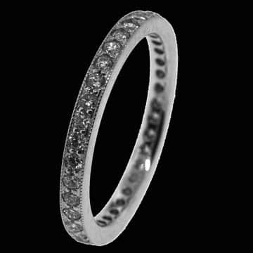 Bead Set Full Eternity Style Wedding Band 1