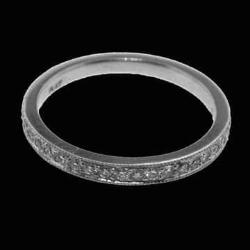 Bead Set Half Eternity Style Wedding Band: 1