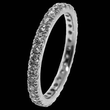 French Set Diamond Full Eternity Style Wedding Band: 1