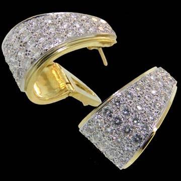 Stunning Diamond Clip Earrings 1