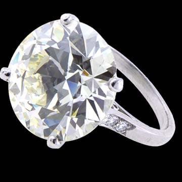 European Cut Diamond Solitaire Ring 1