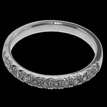 French Set Diamond Half Eternity Style Wedding Band: 1