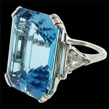 Art Deco Aquamarine Ring 1