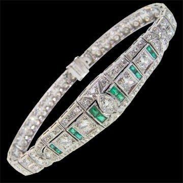 Platinum And Diamond Deco Bracelet 1