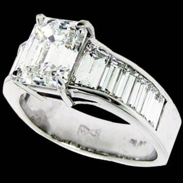 Emerald Cut Diamond Solitaire 1