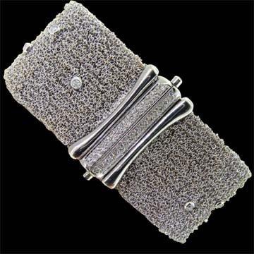 White Gold Mesh Bracelet 1