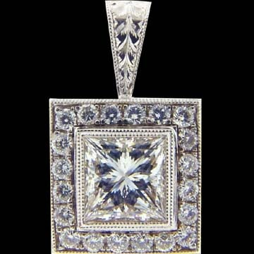 Princess Cut Diamond Pendant 1