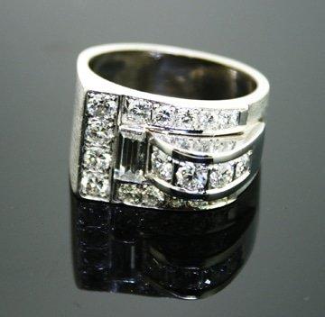 Platinum Retro Style Ring 1