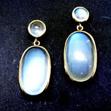 Moon Stone Drop Earrings 1