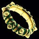 Jean Schlumberger For Tiffany &Amp; Co Green Enamel Bracelet 3