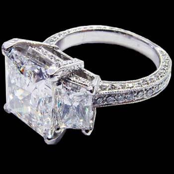 Princess Cut Platinum Solitaire Ring 1