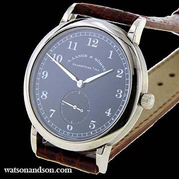 18 Kt White Gold Gentleman'S A. Lange &Amp; Sohne Strap Watch 206029 1