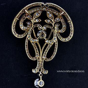 Art Nouveau Convertible Pendant Brooch 3