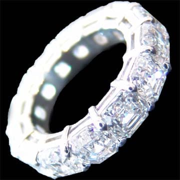 Asshcer Cut Diamond Band 1