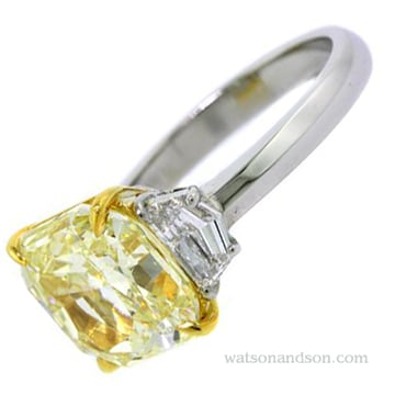 Fancy Yellow Diamond Ring 3