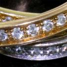 Cartier Diamond 3 Color Trinity Rolling Ring 3