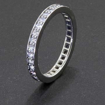 Cartier Platinum Diamond Wedding Band 1