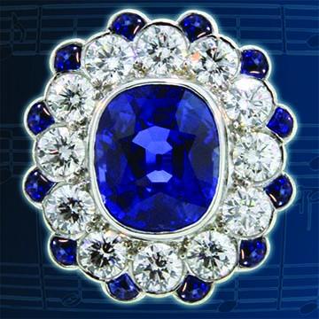 Cushion Cut Natural Blue Ceylon Sapphire Ring 2