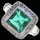 Emerald And Micro Pave Diamond Ring 2