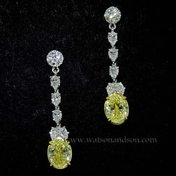 Canary Diamond Drop Earrings 1