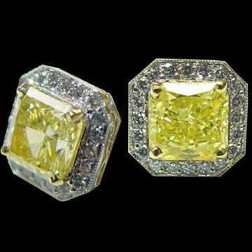 Fancy Intense Yellow Diamond Earrings 1
