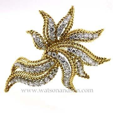 Mid Century Diamond Brooch 1