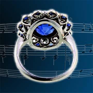 Cushion Cut Natural Blue Ceylon Sapphire Ring 4