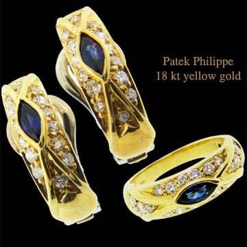 Patek Philippe Earrings &Amp; Ring Suite 1