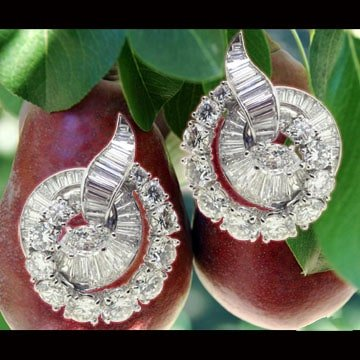 Platinum and diamond ear clips 1