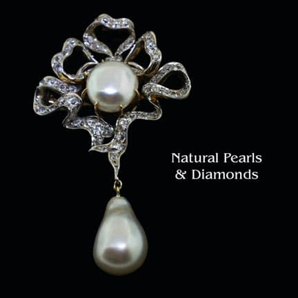 Natural Pearl Lavaliere 1