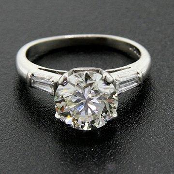 Platinum Transitional Cut Diamond Solitaire 1