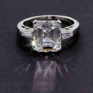 platinum-emerald-cut-diamond-ring-w771