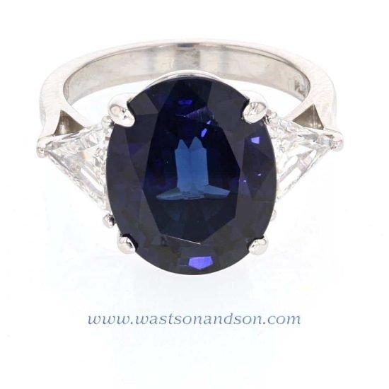 Platinum Sapphire Solitaire Ring 1