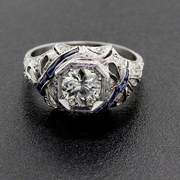 Edwardian European Cut Diamond Solitaire 1