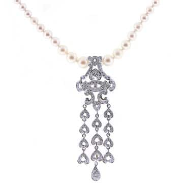 Pearl And Diamond Necklace 1