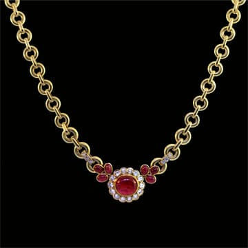 Luxurious Ruby And Diamond Van Cleef &Amp; Arpels Necklace 1
