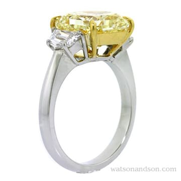 Fancy Yellow Diamond Ring 2
