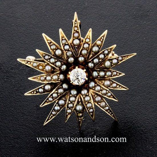 Victorian Star Brooch 1