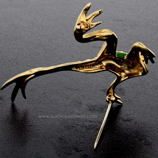 Green Enameled Leaping Frog 2