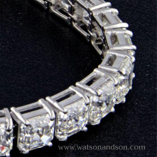 Asscher Cut Diamond Bracelet 2