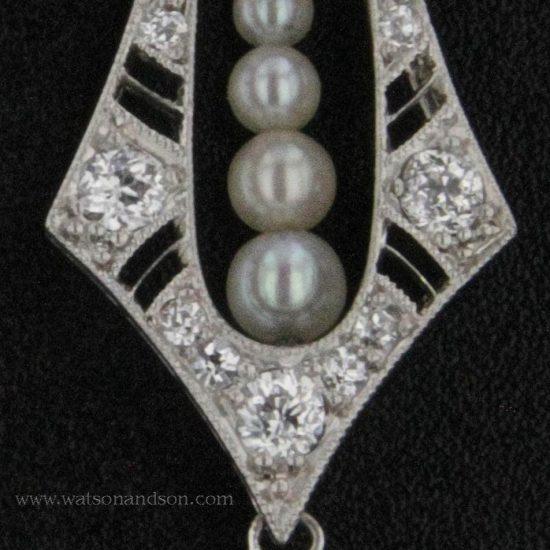 Platinum Diamond And Baroque South Sea Pearl Drop Earrings 5
