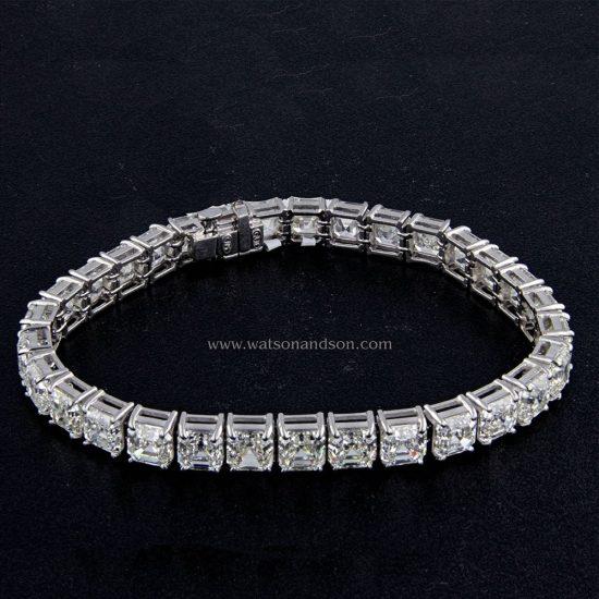 Asscher Cut Diamond Bracelet 1