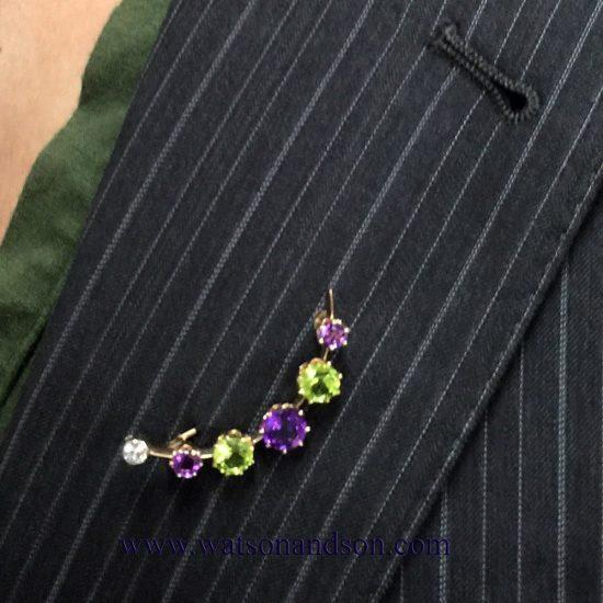 Suffragette inspired smile brooch 3