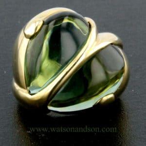 cabochon tourmalin heart ring 3412