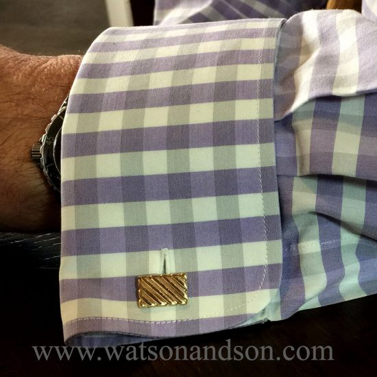 Tiffany &Amp; Co. Yellow Gold Fluted Cuff-Links; 2