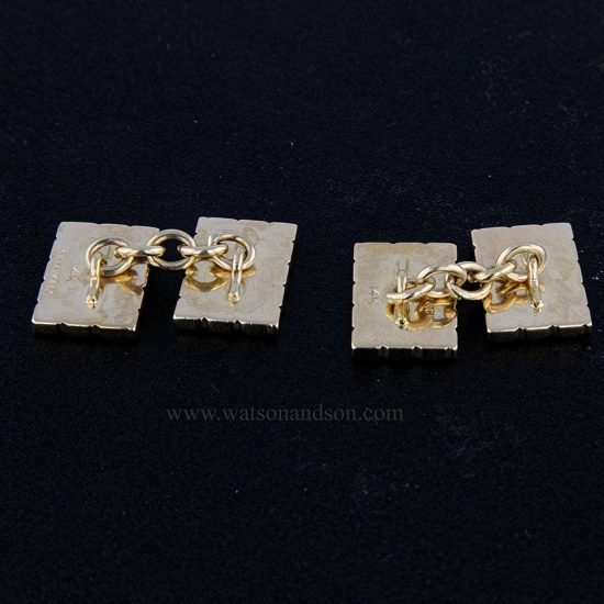 Tiffany &Amp; Co. Yellow Gold Fluted Cuff-Links; 3