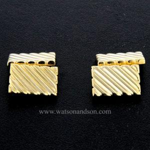 gold tiffany cuff links 3426