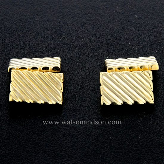 Tiffany &Amp; Co. Yellow Gold Fluted Cuff-Links; 1